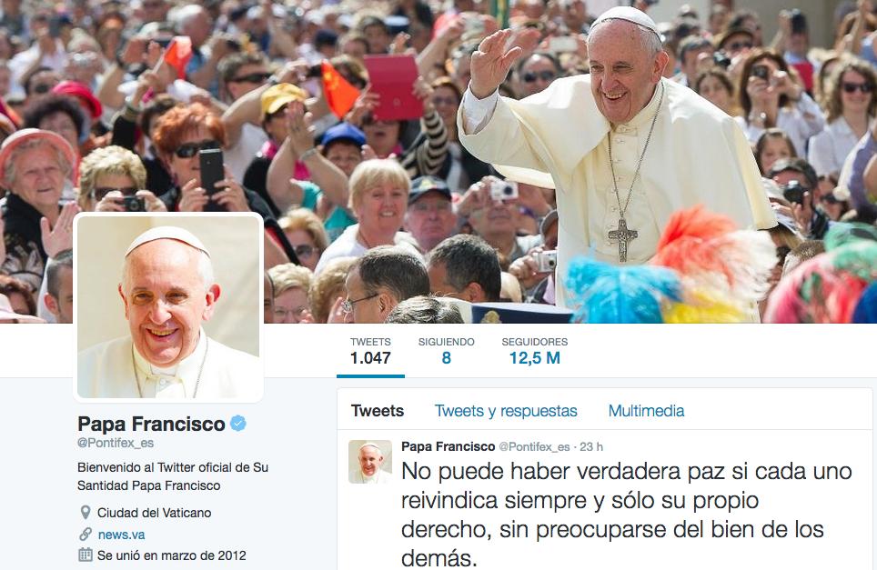 La cuenta de Twitter del Papa Francisco estrena el año con 32 millones de seguidores