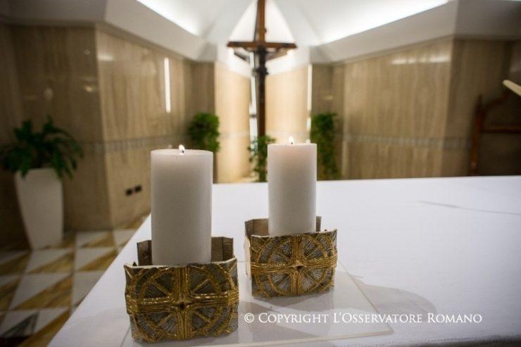 El Papa en Santa Marta: 'la paz es un don de Dios y no la anestesia que da el mundo'