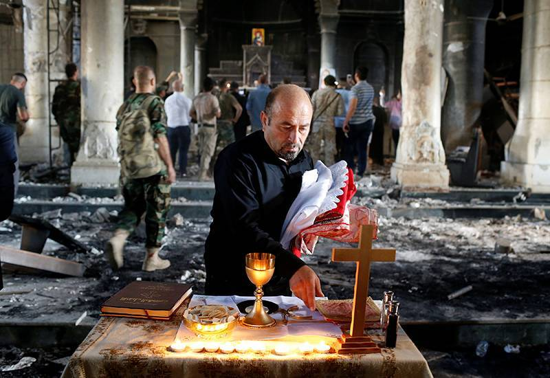 Celebran la primera Misa en Mosul 3 años después de ocupación del Estado Islámico