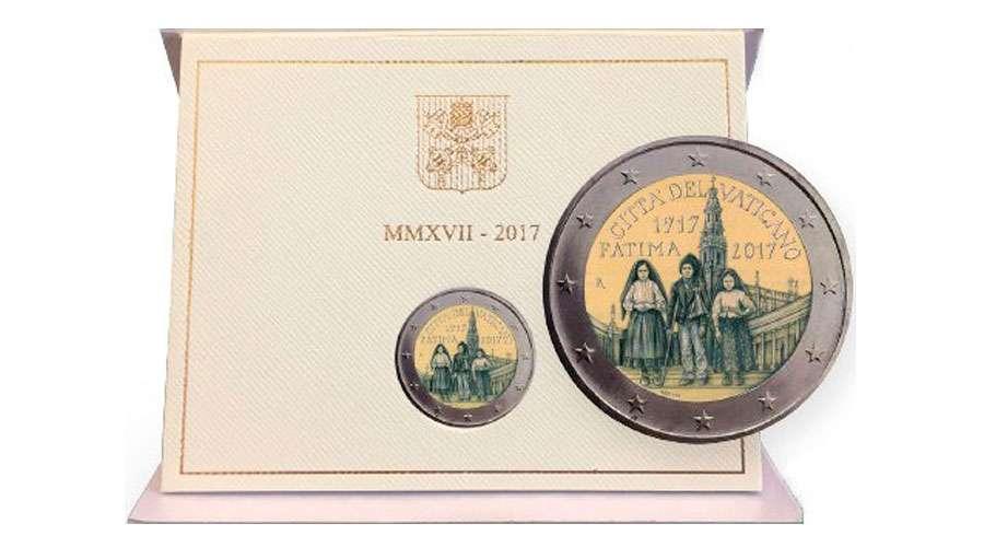 Vaticano lanza moneda por el centenario de las Apariciones de Fátima