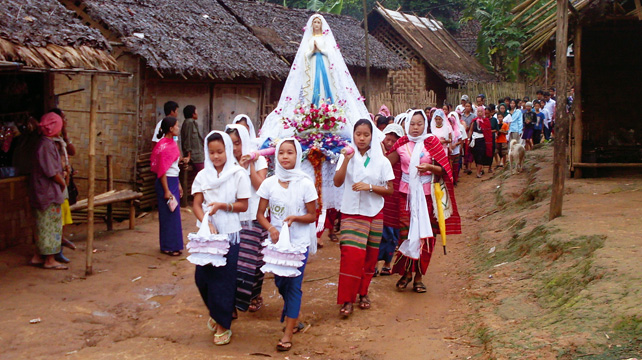 """""""La Iglesia católica en Myanmar es testimonio de paz, unión y encuentro"""""""