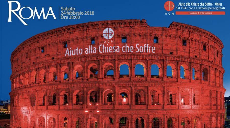 El Coliseo Romano se iluminará de rojo para denunciar la persecución de los cristianos