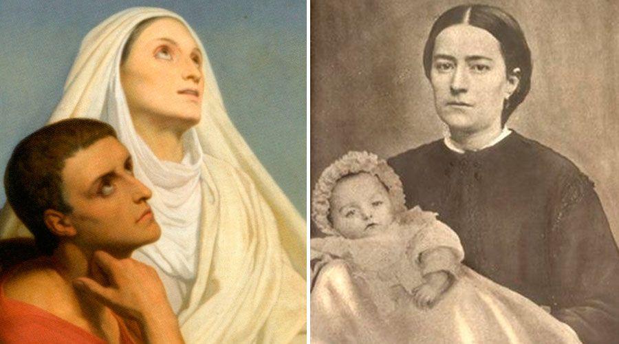 Estas 8 mamás santas criaron hijos también santos