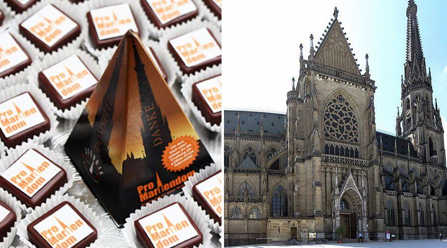 Una dulce iniciativa: Con chocolates ayudan a financiar restauración de catedral