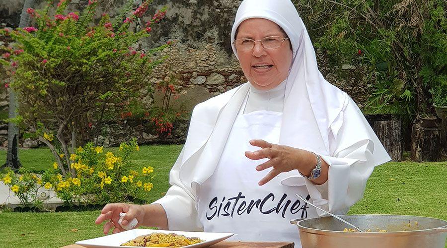 """Religiosa participó en Master Chef y cariño de la gente la motivó a lanzar """"Sister Chef"""""""