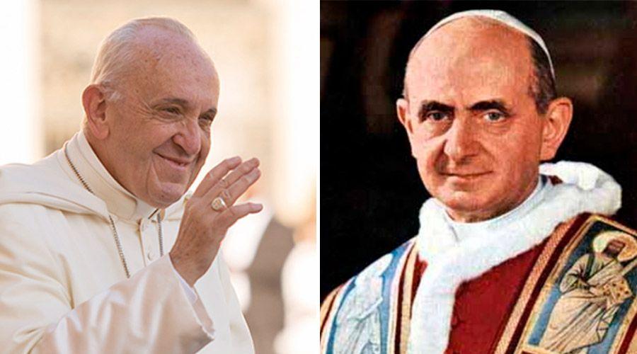 """En el Ángelus, el Papa Francisco recuerda a Pablo VI como el Papa """"de la modernidad"""""""