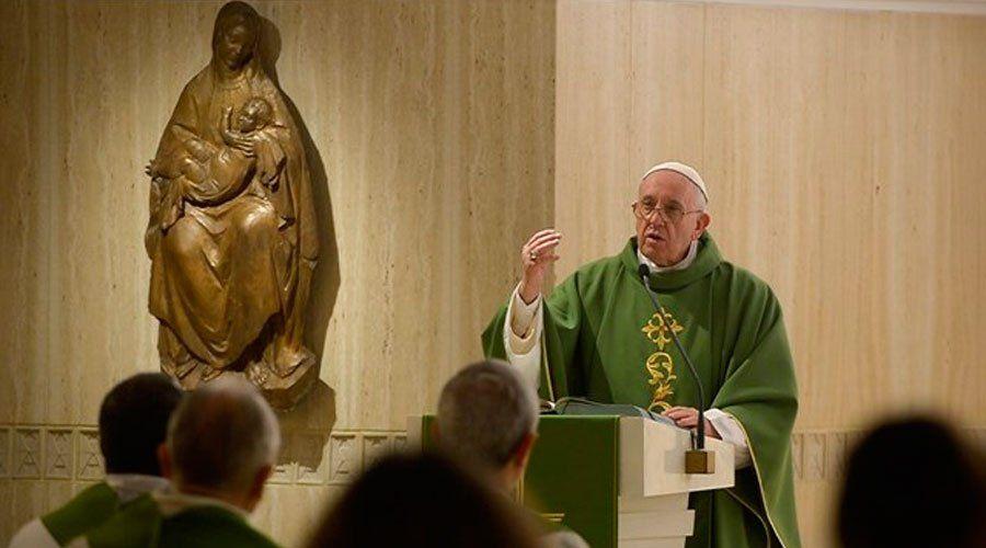 Contemplación y trabajo: los dos ejes de la vida del cristiano según el Papa Francisco