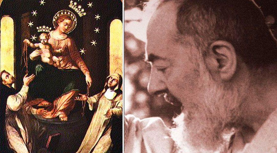 """Cuadro de la Virgen del Rosario """"peregrinó"""" al hogar del Padre Pío"""