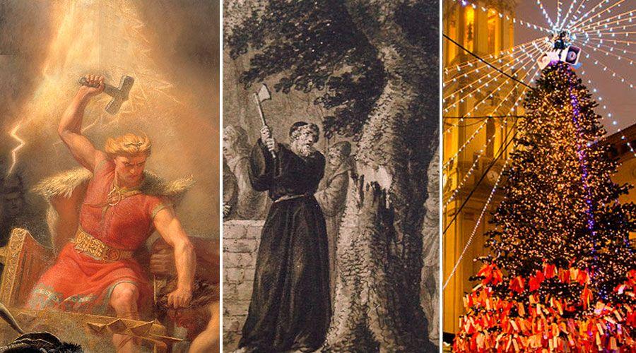 Thor, San Bonifacio y el origen del árbol de Navidad