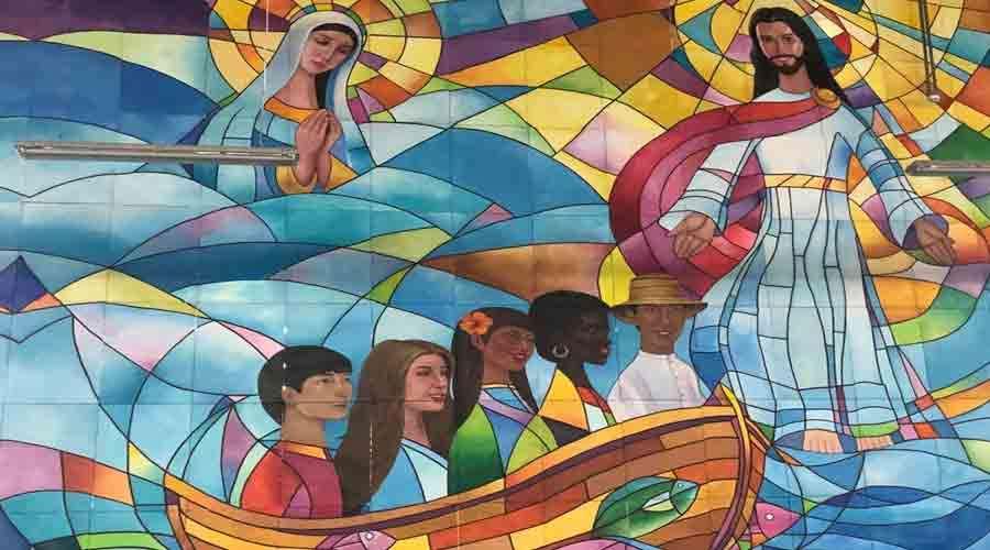 Así se hizo el gigantesco mural para la Vigilia y Misa de clausura de la JMJ