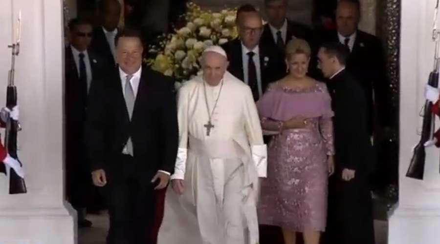 Así fue la ceremonia de bienvenida del Papa Francisco en Panamá