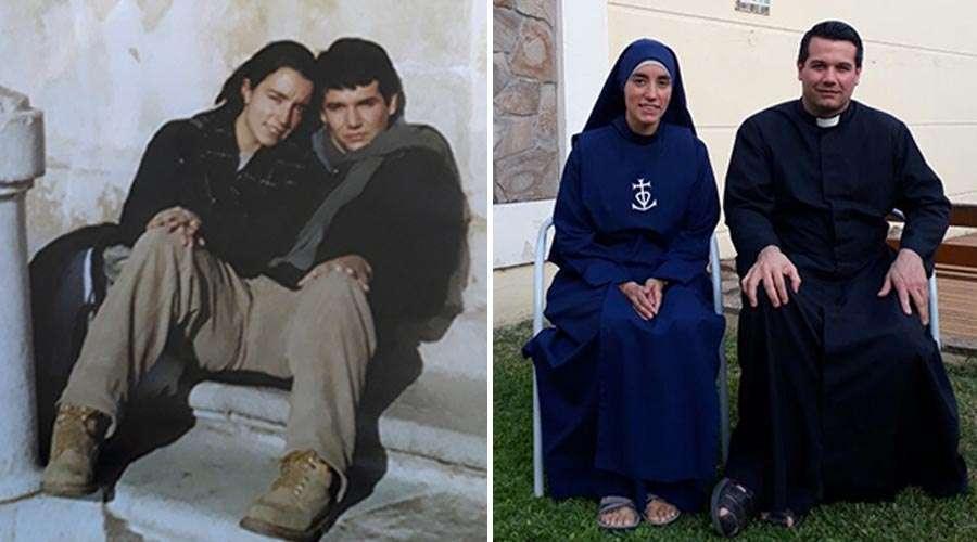 Se iban a casar, Dios los llamó y ahora él es sacerdote y ella religiosa