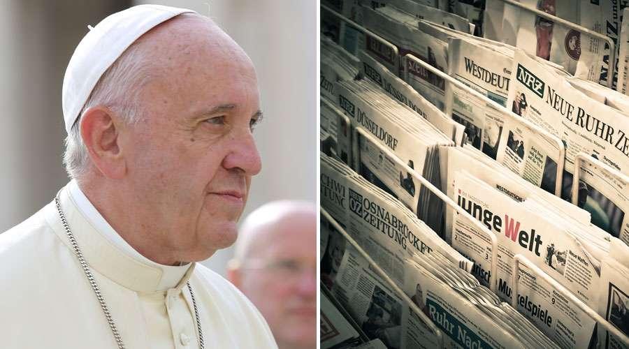 El Papa alerta a periodistas sobre 4 pecados en los que pueden caer