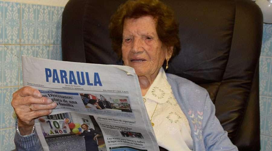 Fundó Cáritas en su pueblo y, con 107 años sigue trabajando como voluntaria