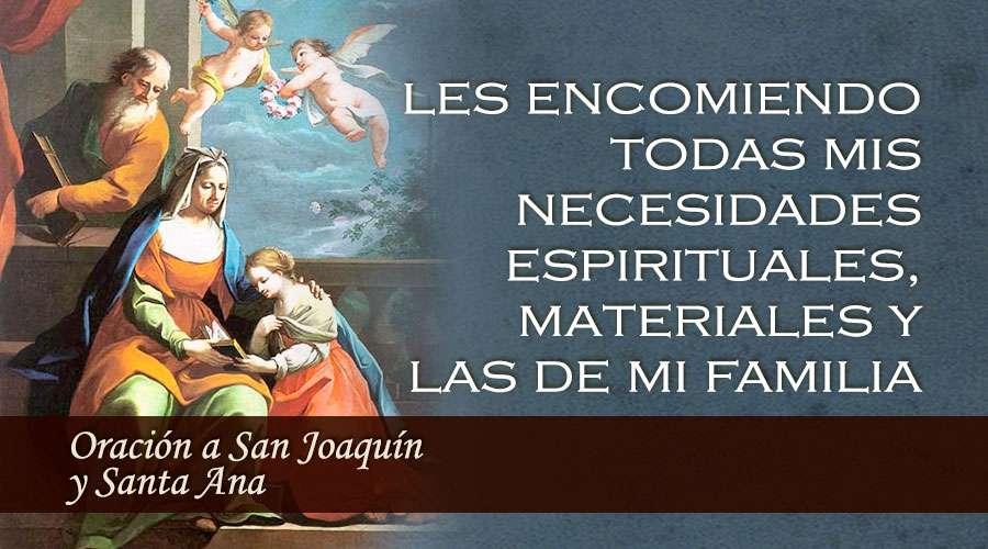 En el día de su festividad pedimos a San Joaquín y Santa Ana