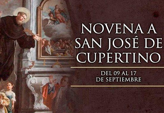 Inicia la novena a San José de Cupertino, conocido como el santo volador