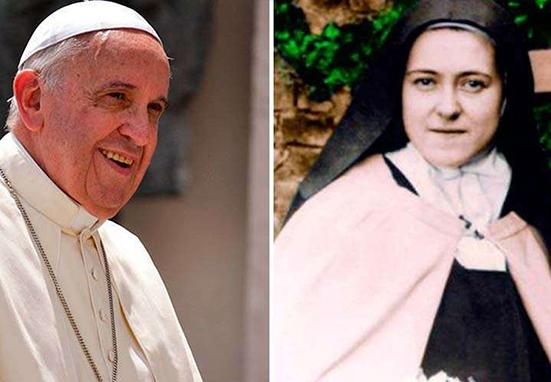 10 enseñanzas del Papa Francisco sobre su devoción a Santa Teresita del Niño Jesús