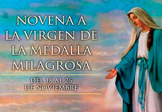 Tercer Día de la Novena a la Virgen de la Medalla Milagrosa