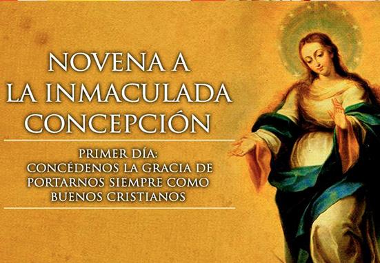 Haz la Novena a la Inmaculada Concepción-Primer día