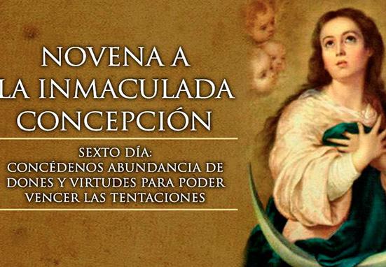 Sexto Día de la Novena a la Inmaculada Concepción