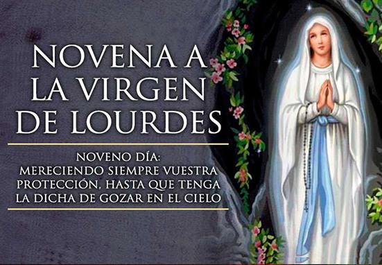 Reza la Novena a la Virgen de Lourdes con Mater Mundi – Noveno día